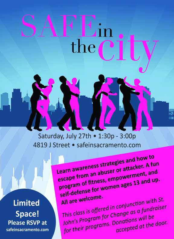 Safe in the City Self-Defense Seminar Flyer4 (8x11) - small
